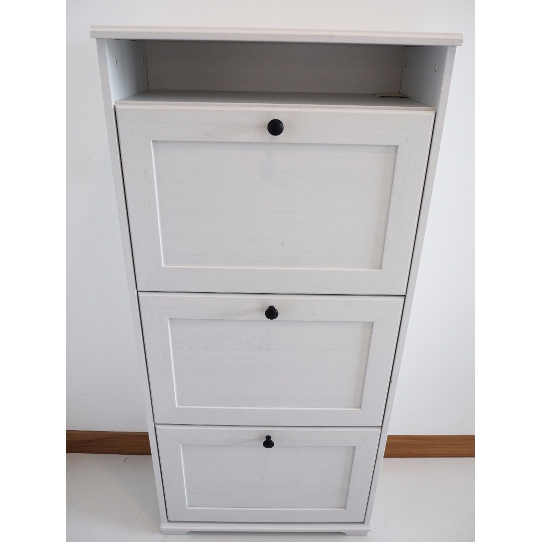 Ikea Brusali Shoe Cabinet Saves E With 3 Compartments Furniture Shelves Drawers On Carou