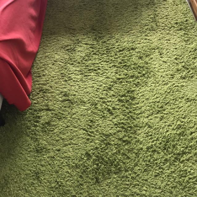 IKEA green carpet (198cm by 136cm)