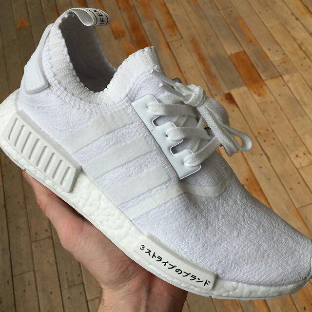 9e7fffb6b3075 INSTOCK  BNIB Adidas Nmd R1 Primeknit Triple White
