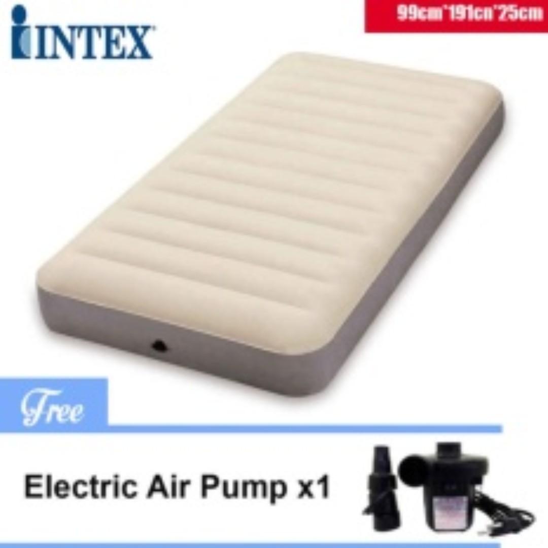 intex durabeam headboard queensize airbed with builtin pump