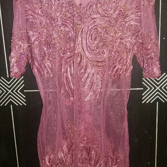 Kebaya Payet Modern Warna Pink Fanta Women S Fashion Women S