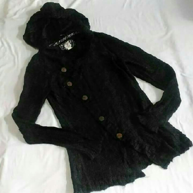 Knitted Cardigan With Hoodie/ Sweater