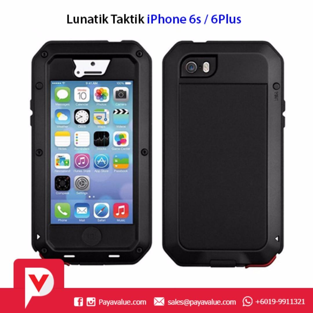 separation shoes 40da7 bd02b Lunatik Taktik Water Resistant Aluminium Gorilla Glass Case for iPhone  6/6s/Plus