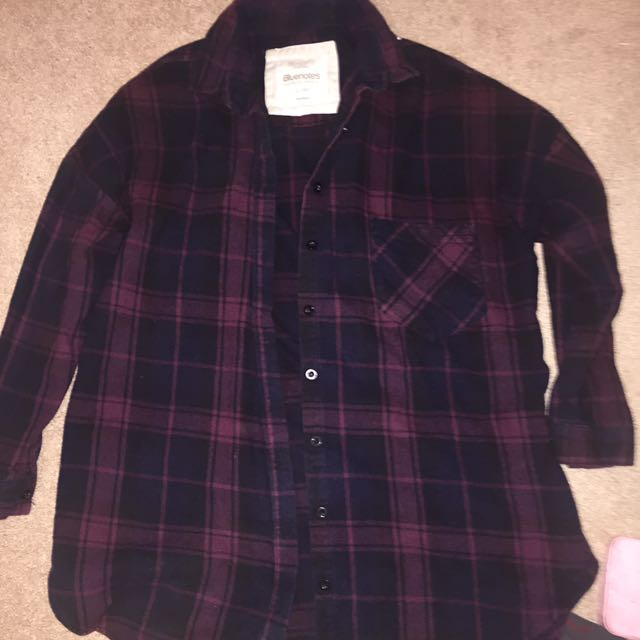 Maroon and black flannel