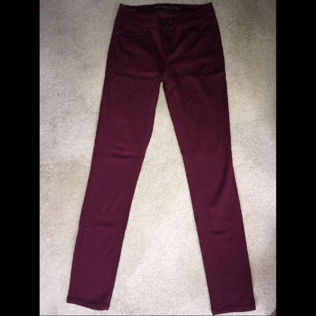 Maroon/Deep Red Bluenotes Jeggings