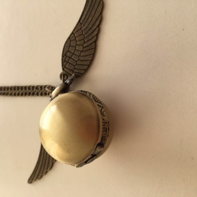 Metal Harry Potter Snitch Long Necklace