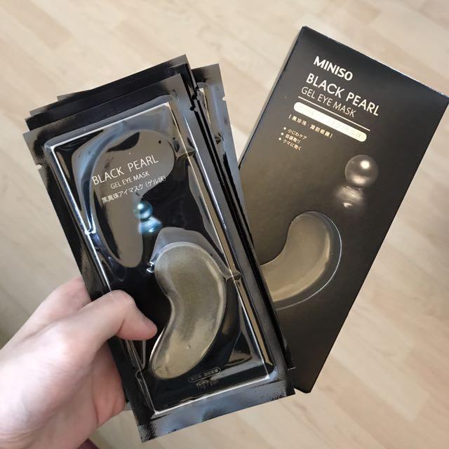 Miniso black pearl eye mask 5pcs