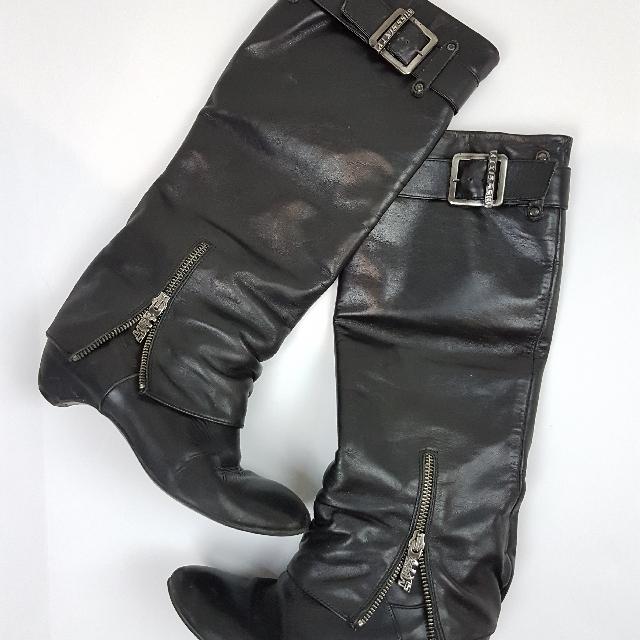 miss sixty knee high boots sz 6