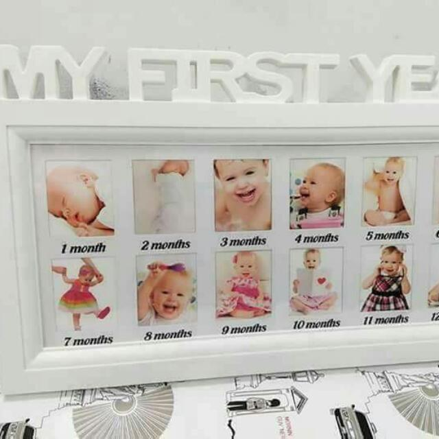 My First Year Picture Frame