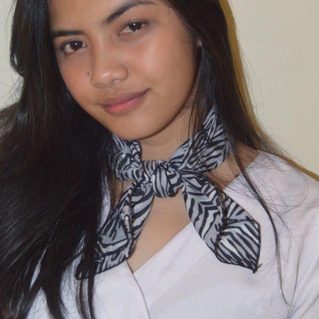 [NEW] Grey Tiger Neck scarf / Bandana