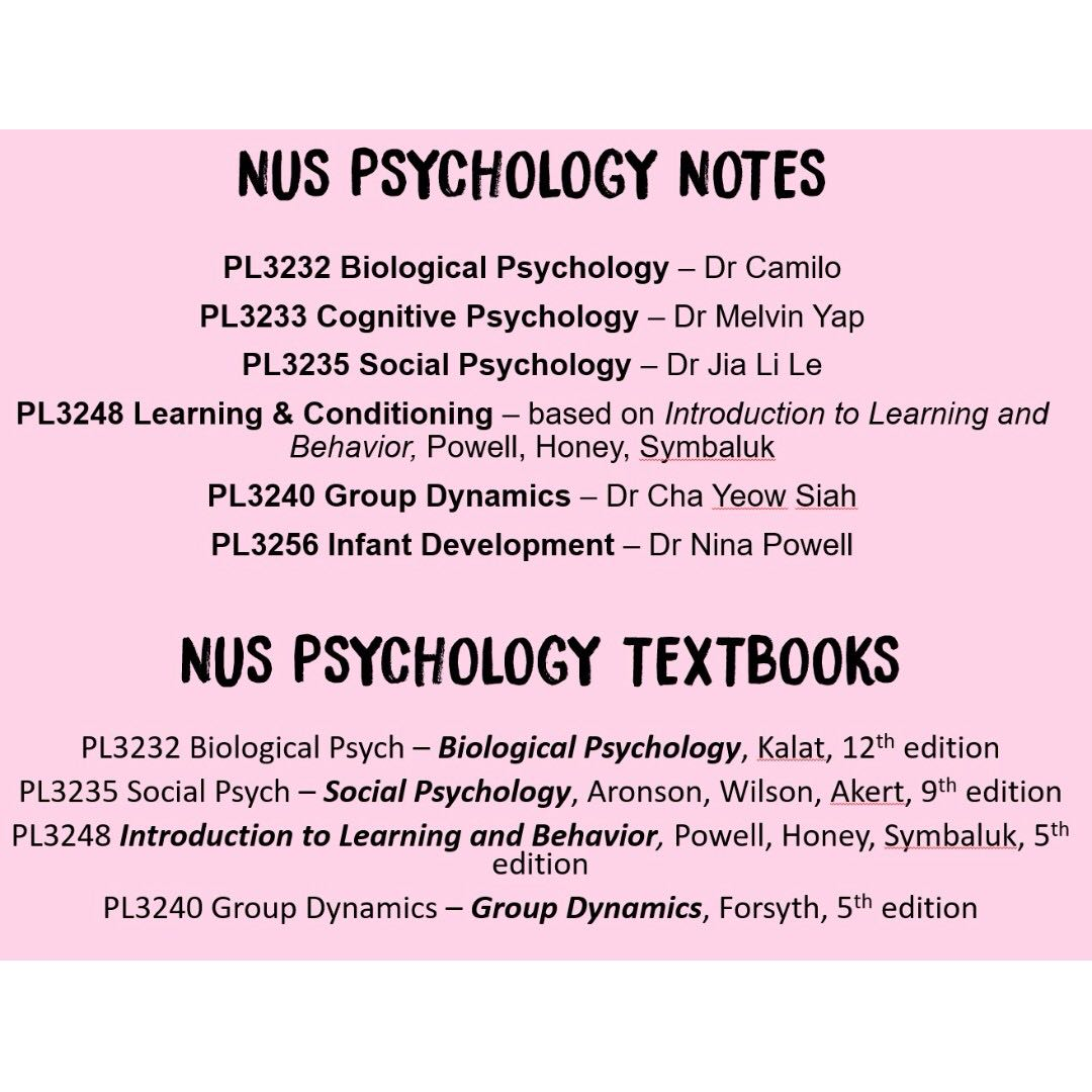 Nus psychology textbooks and notes pl3232 pl3233 pl3235 pl3248 photo photo photo photo fandeluxe Gallery