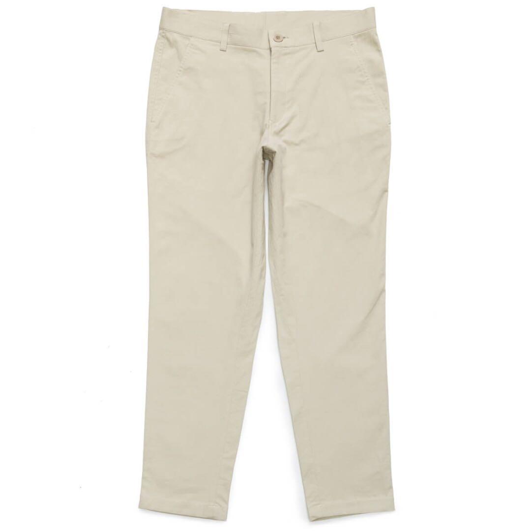 Plain-me cop1629 彈性棉質休閒長褲 全新M 卡其