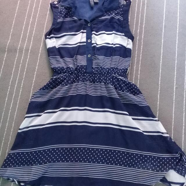 Preloved blue stripe dress