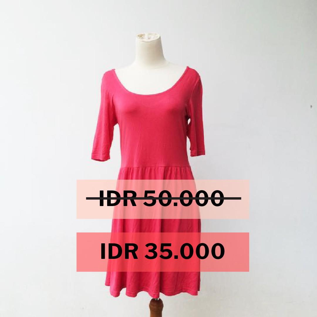 [PRELOVED] Cotton on - Pink Summer Dress