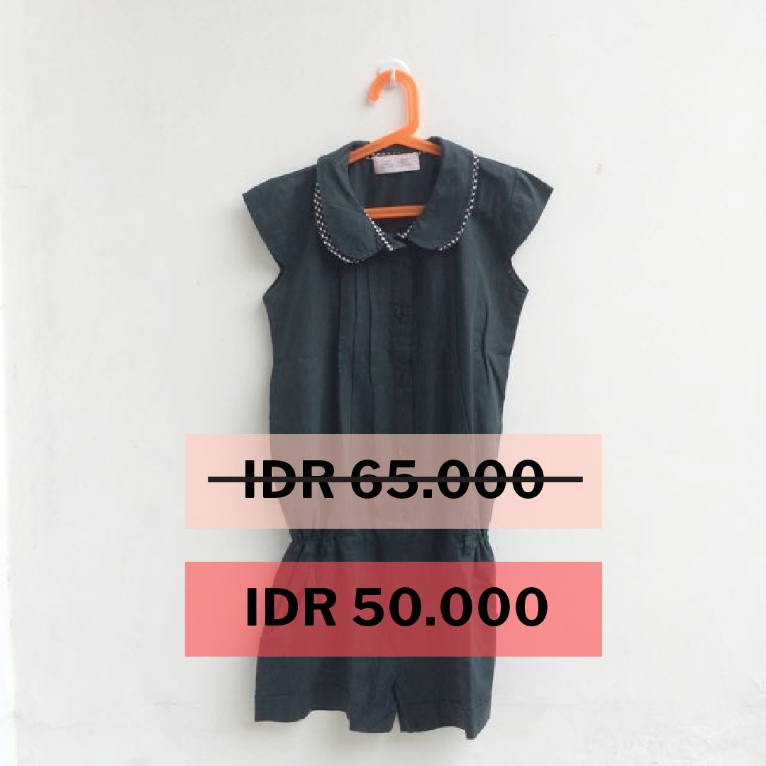 [PRELOVED] Dark grey jumpsuit