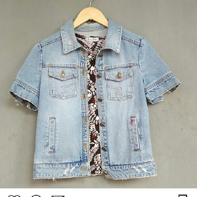 Preloved Jaket Jeans