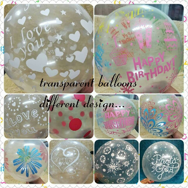 Printed Transparent Balloon