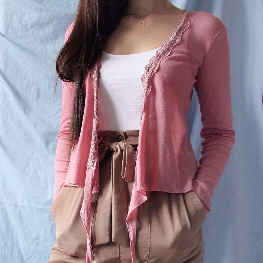 promod rose cardigan