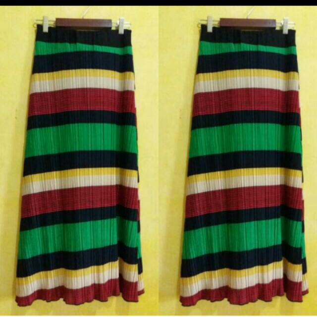 Rainbow long skirt