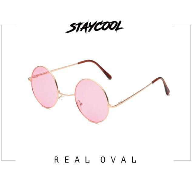 Real oval pink