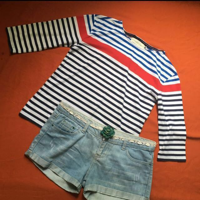 Regatta 3/4 Stripes Blouse, Size: Small