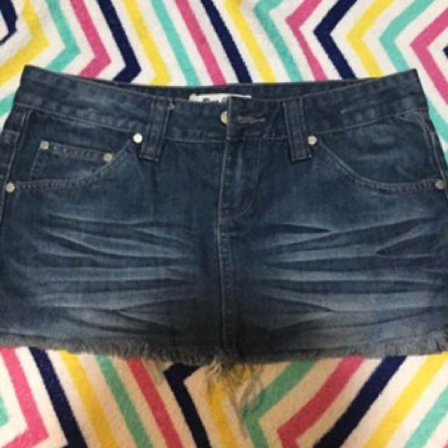 Roxy ripped mini skirt