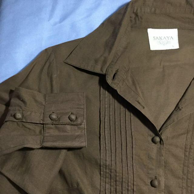 Sakaya Brown blouse. Size small