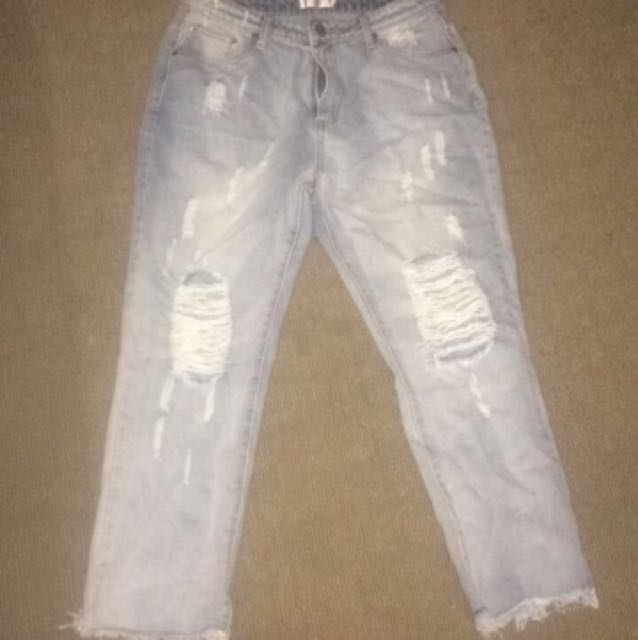 Showpo Vintage Style Ripped Jeans