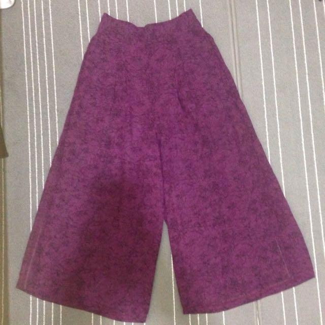 Skirt Pants - Purple