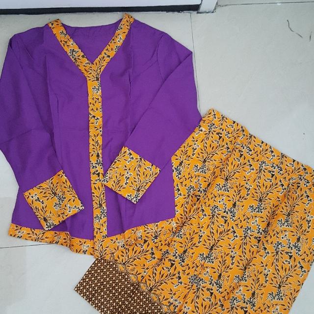 Stelan Kebaya Batik Dan Katun