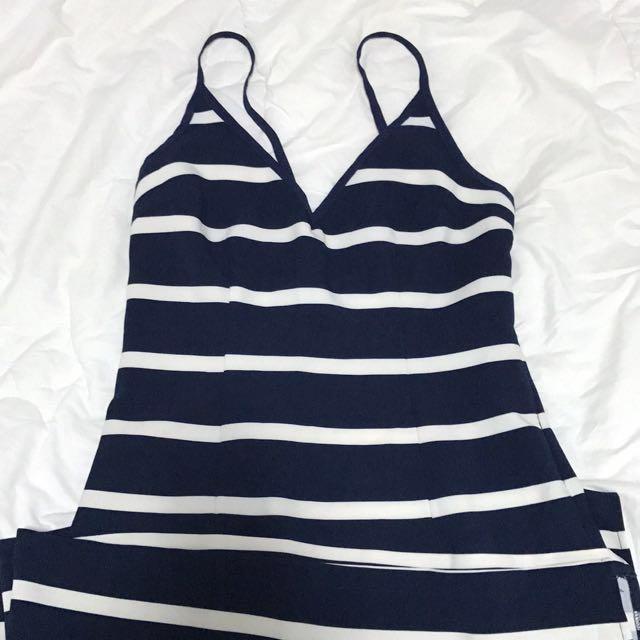 Summer Stripe Macy's Dress Size 10