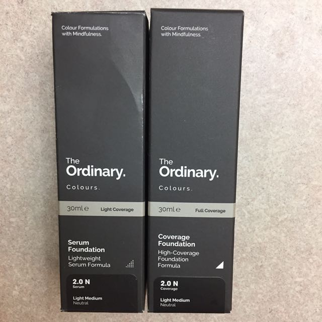 The ordinary full coverage & serum foundation