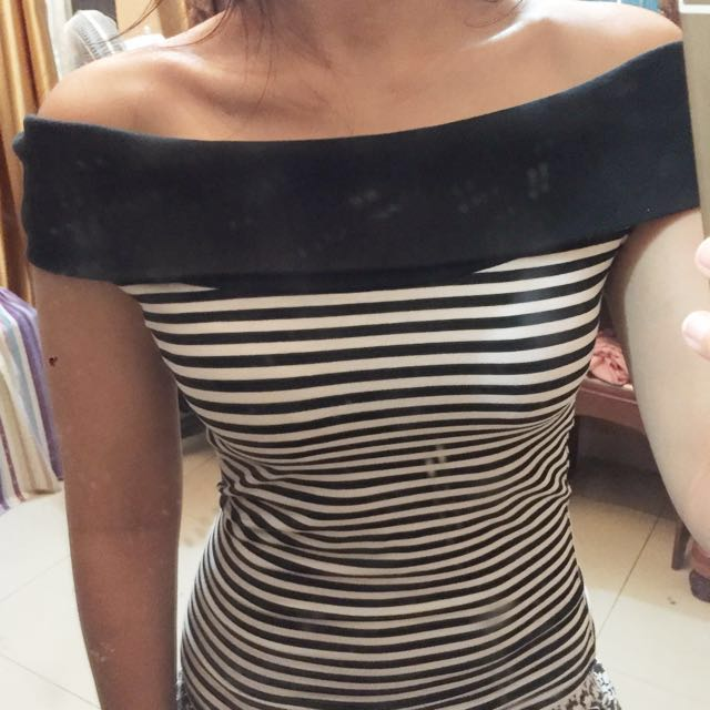 Top: Sabrina Stripes