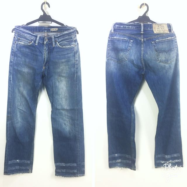 Used Limited No 867 POLO Ralph Lauren Distressed Ripped Jeans for Him