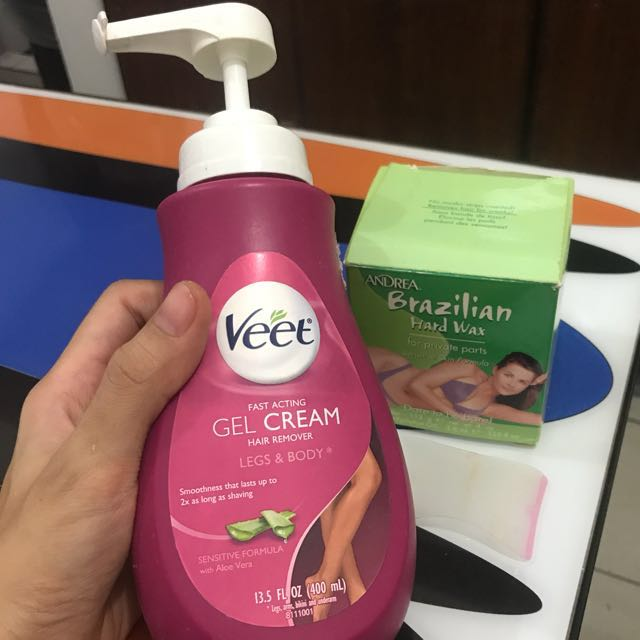 Veet Hair Remover For Sensitive Skin With Free Brazilian Hard Wax