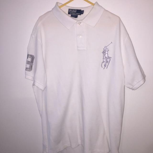 VINTAGE PURE WHITE BIG HORSE RALPH POLO 🔥🏆