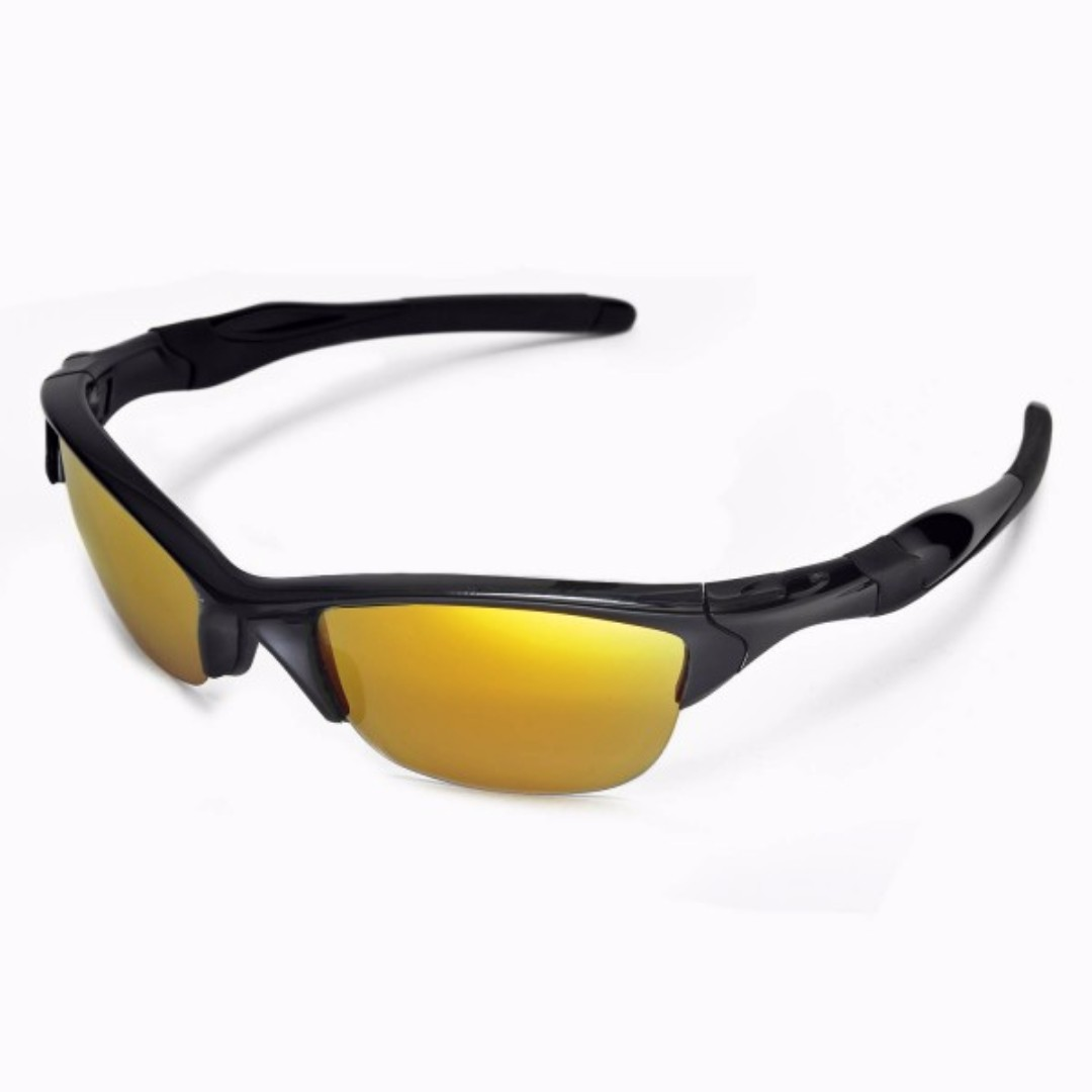 3dfd01aad5 Half Jacket 2.0 24K Gold POLARIZED Walleva Replacement Lense for ...