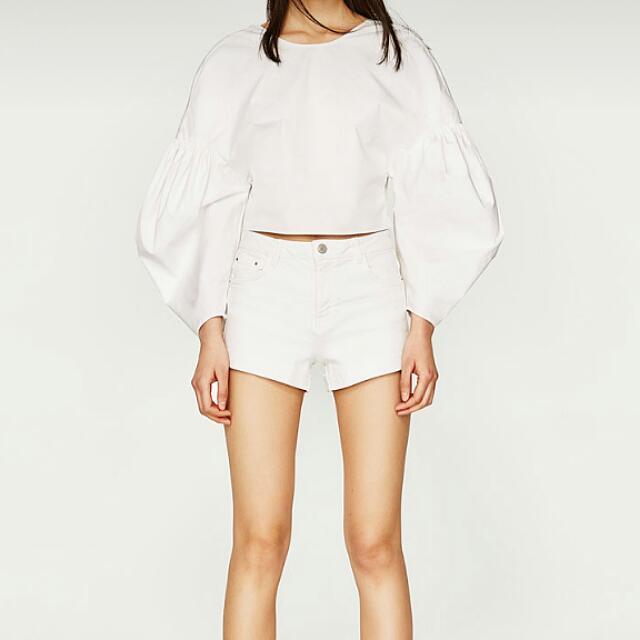 ZARA 短褲 白色短褲