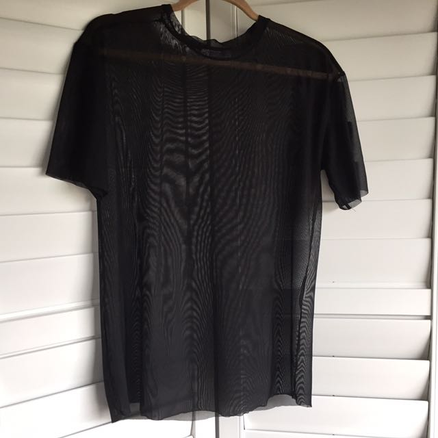 Zara sheer t-shirt