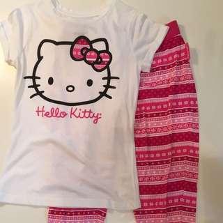 Hello Kitty Pajama Set Size Small