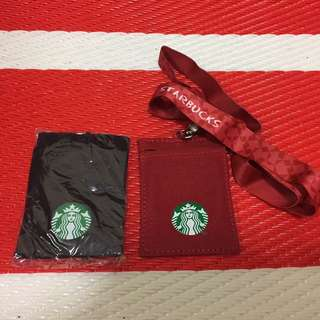 Starbucks lanyard with card holder