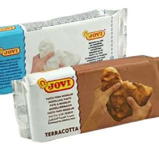 Jovi Air Dry Clay (250g) White/Terracotta