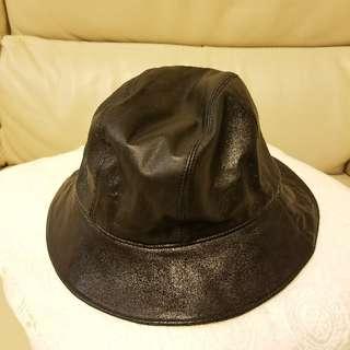 MaxMara真皮帽