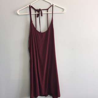 Brandy Melville maroon dress