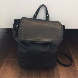 Hibou leather backpack