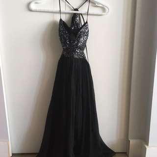 BCBG black sparkly party dress