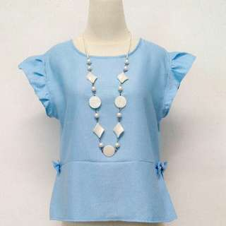Baby Blue Peplum💙