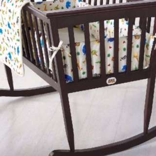 Brown Wooden Cradle