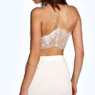 BNWT White Lace Crop