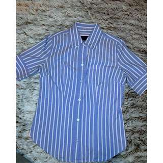 American Eagle Stripped Short Sleeve Shirt